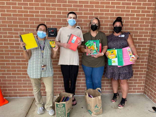 School Supplies Donated for Kids in need at Plano Texas HeadStart Program